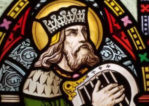Koning David met harp, naamgever van de Schola Davidica